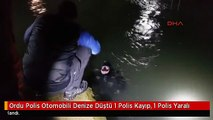 Ordu Polis Otomobili Denize Düştü 1 Polis Kayıp, 1 Polis Yaralı