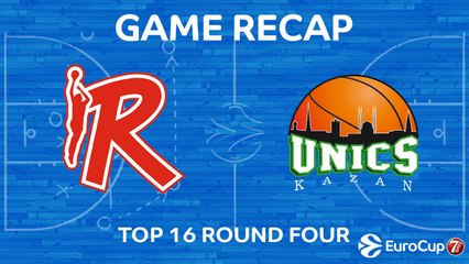 7Days EuroCup Highlights Top 16, Round 4: Reggio Emilia 76-75 UNICS