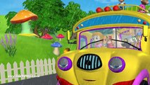 The Wheels On The Bus Go Round And Round Nursery Rhymes | 3D Animation English Nursery Rhymes Songs for kids by HD Nursery Rhymes