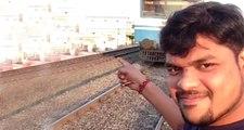 Üzerine Gelen Tren ile Selfie Çekmek İsteyen Genç, Dehşet Anlarını Kayda Aldı