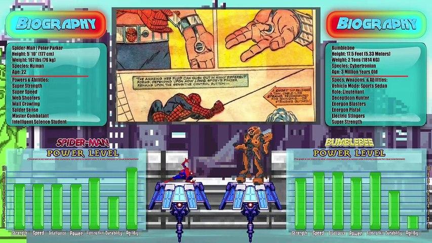 SPIDER-MAN vs BUMBLEBEE! (Avengers vs Transformers 3D Animation) | REWIND  RUMBLE!