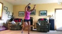Rupture du tendon d'Achille pendant un exercice... Le bruit est impressionnant