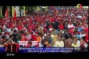 """Secretario de la OEA calificó de """"farsa"""" adelanto de elecciones en Venezuela"""