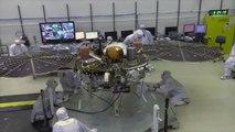 NASA tests Mars lander InSight's solar array