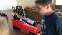 Extreme Toys Shorts-Nerf Trick Shot Battle! Ultimate Challenge! Who Is Better with the Nerf Rival Blasters