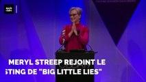 Meryl Streep arrive à 'Big Little Lies'