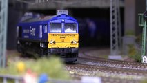 Large Model Railway with Magnificent Cab Ride in HO Scale (1:87)