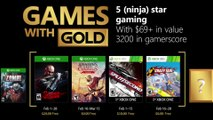 "XBOX Games with Gold - Official ""February 2018"" Games Trailer"