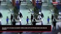 Un enfant est propulsé dans les airs après avoir jeté un pétard dans les égouts (Vidéo)