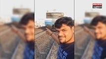 Un homme se fait violemment percuter par un train en voulant faire un selfie (Vidéo)