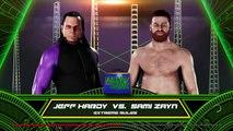 WWE-2K18-Jeff Hardy vs Sami Zayn - Extreme Rule Match- Money In The Bank 2018 -WWE-2K18-Gameplay