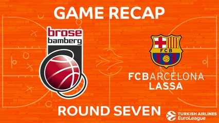 EuroLeague 2017-18 Highlights Regular Season Round 7 video: Bamberg vs. Barcelona