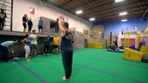 Trampoline Wall Tricks at Parkour & Freerunning Academy! _ People are Awesome-nvDBzhK7LZ4