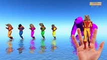 Colors lion vs Cheetah tiger Finger family Rhymes - superheros Finger family 3d Animation