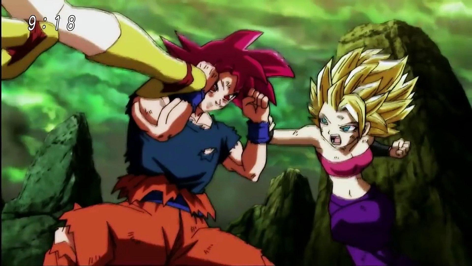 Super Saiyan God Goku Vs Caulifla Kale Dragon Ball Super Episode