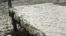 Windy Weather Churns Up Sea Foam 'Snow' Storm