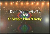 Simple Plan ft Nelly Don't Wanna Go To Bed Karaoke Version