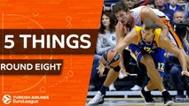 Turkish Airlines EuroLeague, Regular Season Round 8: 5 Things to Know