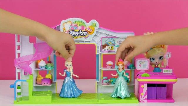 FROZEN Elsa BIRTHDAY SURPRISE for Anna! GIANT PLAY-DOH Egg Surprise Toys Num Noms Shopkins LPS Toys