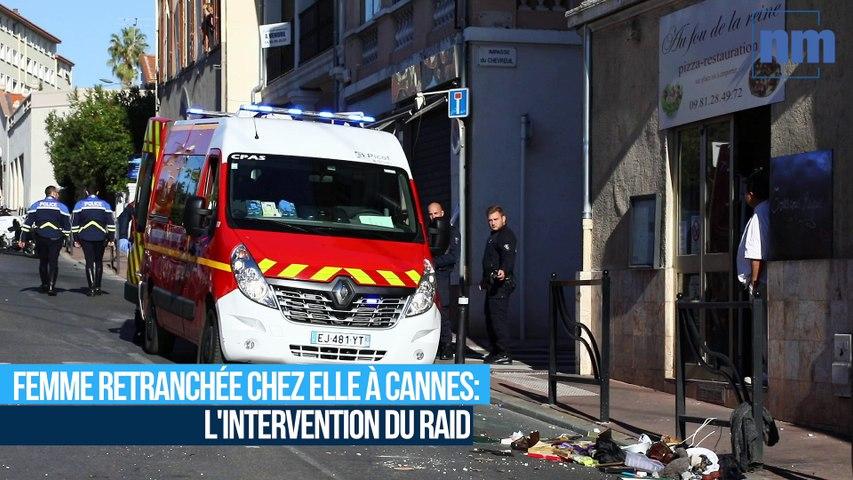 Femme retranchée chez elle à Cannes: l'intervention du Raid