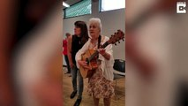 Grandmother performs hilarious rendition of famous Patsy Cline song, documenting the struggles of growing old