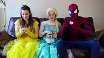 Frozen Elsa CLOTHES SWAP CHALLENGE w_ Spiderman Belle Anna Rapuntzel Fun Superhero in real life IRL | Superheroes | Spiderman | Superman | Frozen Elsa | Joker