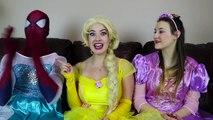 Frozen Elsa CLOTHES SWAP CHALLENGE w_ Spiderman Belle Rapunzel Joker Fun Superhero in real life IRL | Superheroes | Spiderman | Superman | Frozen Elsa | Joker