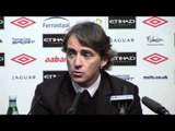 """Roberto Mancini - """"Tevez wants to stay"""""""