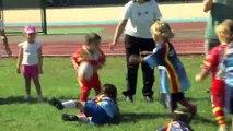 Les moins de 7 ans du rugby club Martigues-Port de Bouc en action !