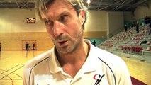 Réaction de Fred Perin, coach de Châteauneuf-les-Martigues après le match perdu contre Montélimar