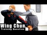 Wing Chun training - wing chun Chi Sao take down Q39