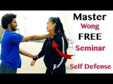 the best self-defence training seminar with Master Wong in Ipswich