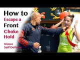 How to Escape a Front Choke Hold | women self defense in Chinese Cantonese Hong Kong 在危急時被敵人掐頸的脫險方法