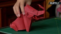 Origami Master Makes Elaborate Creations Using Only One Sheet of Paper