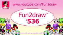 How To Draw and Color a Cute Cake Easy - 100 Million Views Celebration - Fun2draw