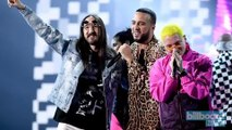 J Balvin Brings Out Steve Aoki, French Montana, & Bad Bunny at 2017 Latin Grammys | Billboard News