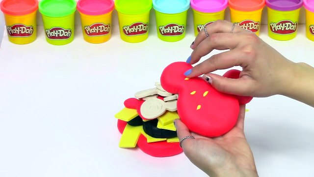 Mickey mouse Play Doh Colors Rainbow Cake Toys Burger Cupcakes Plastilina y Juguetes Castle Toys