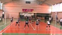 C de F: Istres Mérignac. le deuxième set (25-27)