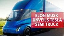Elon Musk unveils Tesla electric semi truck nicknamed 'the beast'