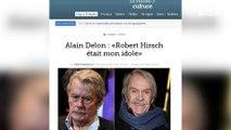 """Alain Delon """"brisé"""" après la mort de son ami Robert Hirsch"""