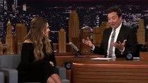 Jessica Albas Unborn Baby Gets First Taste of The Tonight Shows Secret Ben & Jerrys Flavor