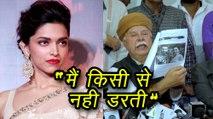 Deepika Padukone STRONG REACTION On Threats By Karni Sena | Padmavati Controversy