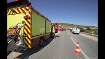 Collision frontale à la Gineste ( crédits photos MT Valverde, BMPM)