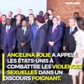 Le discours poignant d'Angelina Jolie sur les violences sexuelles faites aux femmes