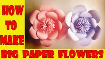 How to Make Big Flower paper | paper flower step by step |  paper flower making Tutorial videos | how to make paper flowers at home | paper craft 2017