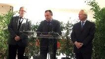 Jean-Noël Guérini soutient la candidature de Vincent Burroni aux législatives.
