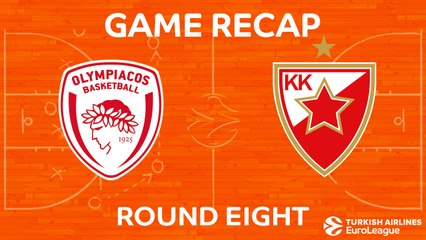 EuroLeague 2017-18 Highlights Regular Season Round 8 video: Olympiacos 85-59 Zvezda