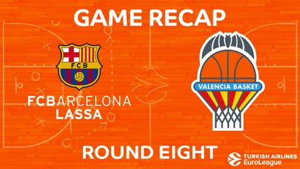EuroLeague 2017-18 Highlights Regular Season Round 8 video: Barcelona 89-71 Valencia