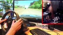 City Car Driving - BMW X5 E53 vs drifting, Thrustmaster T500 RS 1080°, TH8RS Shifter, trackIR. new