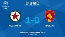 J13 - Red Star FC – Rodez AF (1-0), le résumé